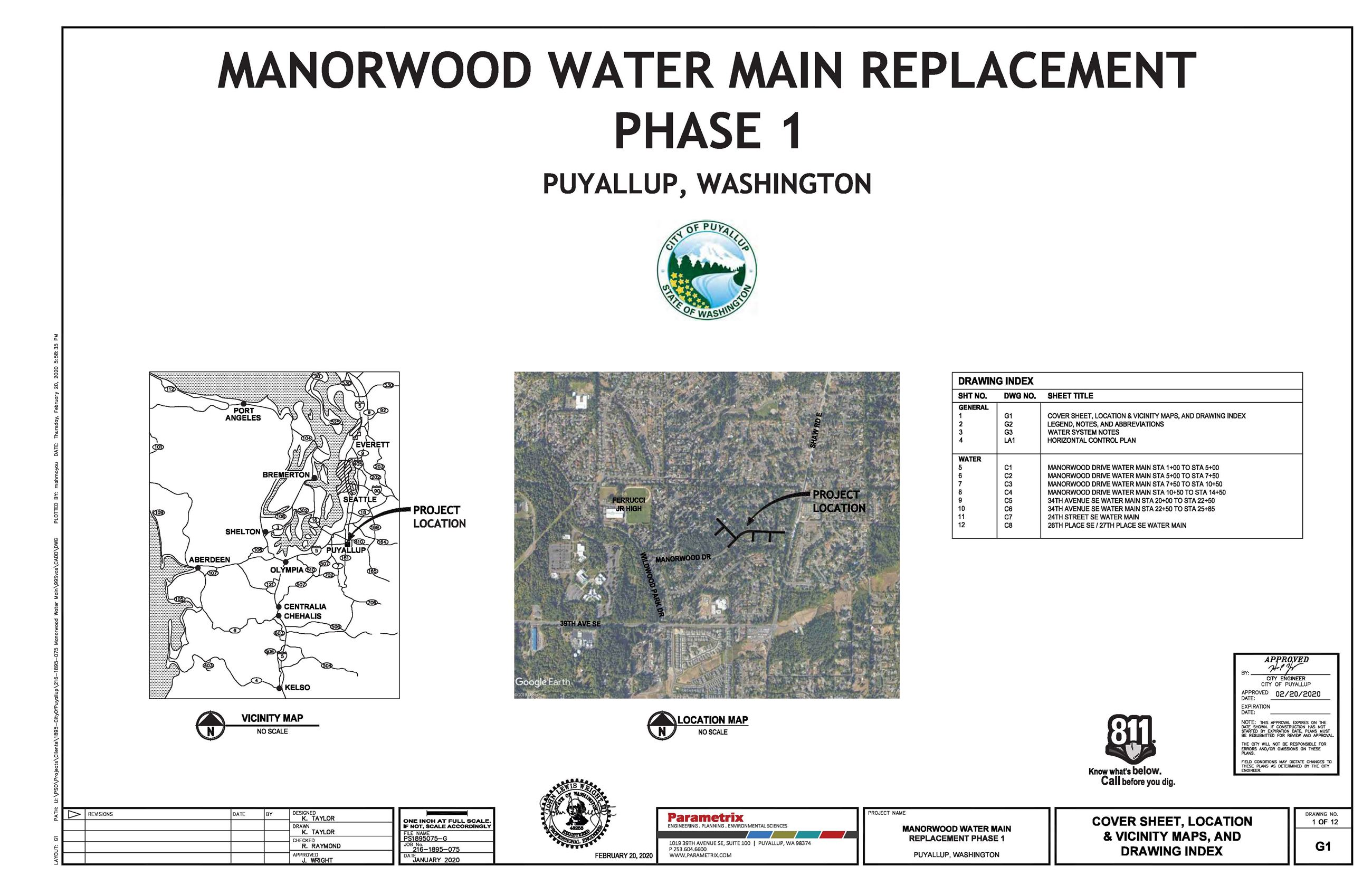 Manorwood Water Main Replacement, Phase 1