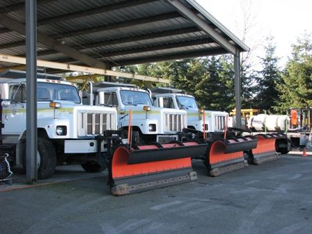 Snow Plows in Storage