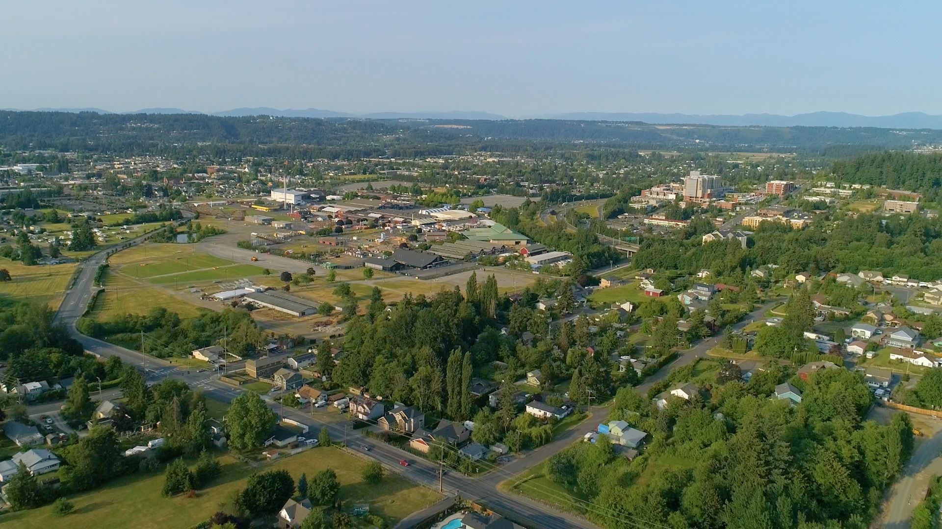 Puyallup drone shot from PCTV