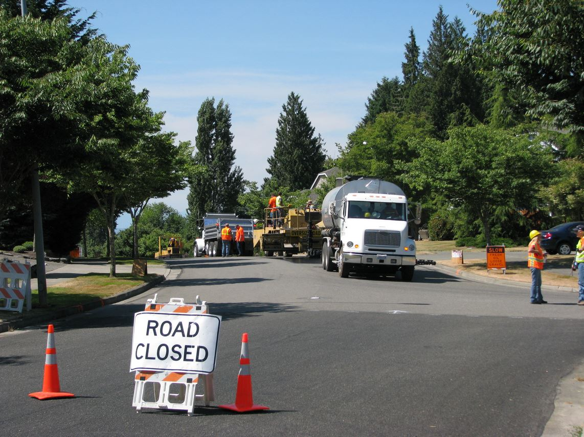 Street Maintenance Division Working on a Road