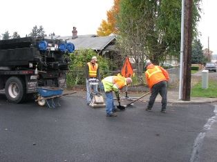 Street Maintenance Division Providing Routine Maintenance