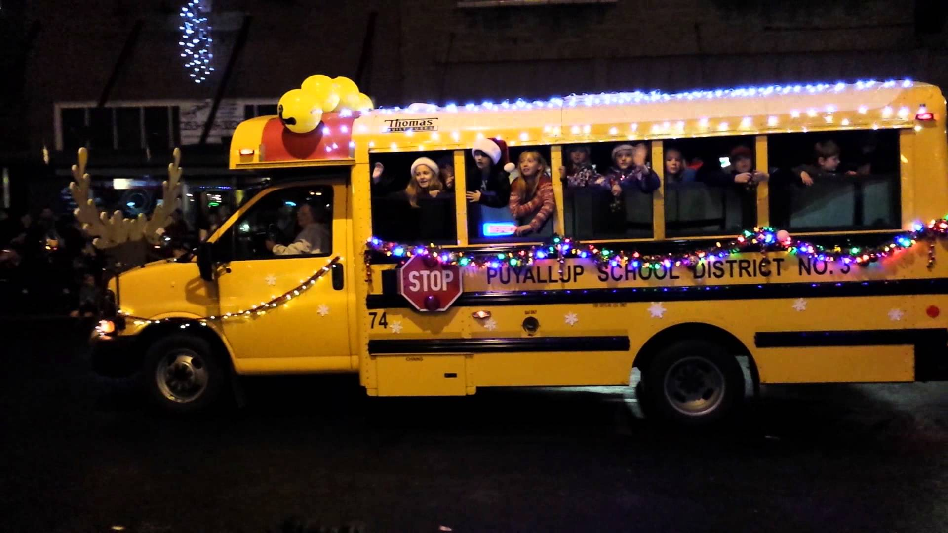 puyallup sd bus lighted parade