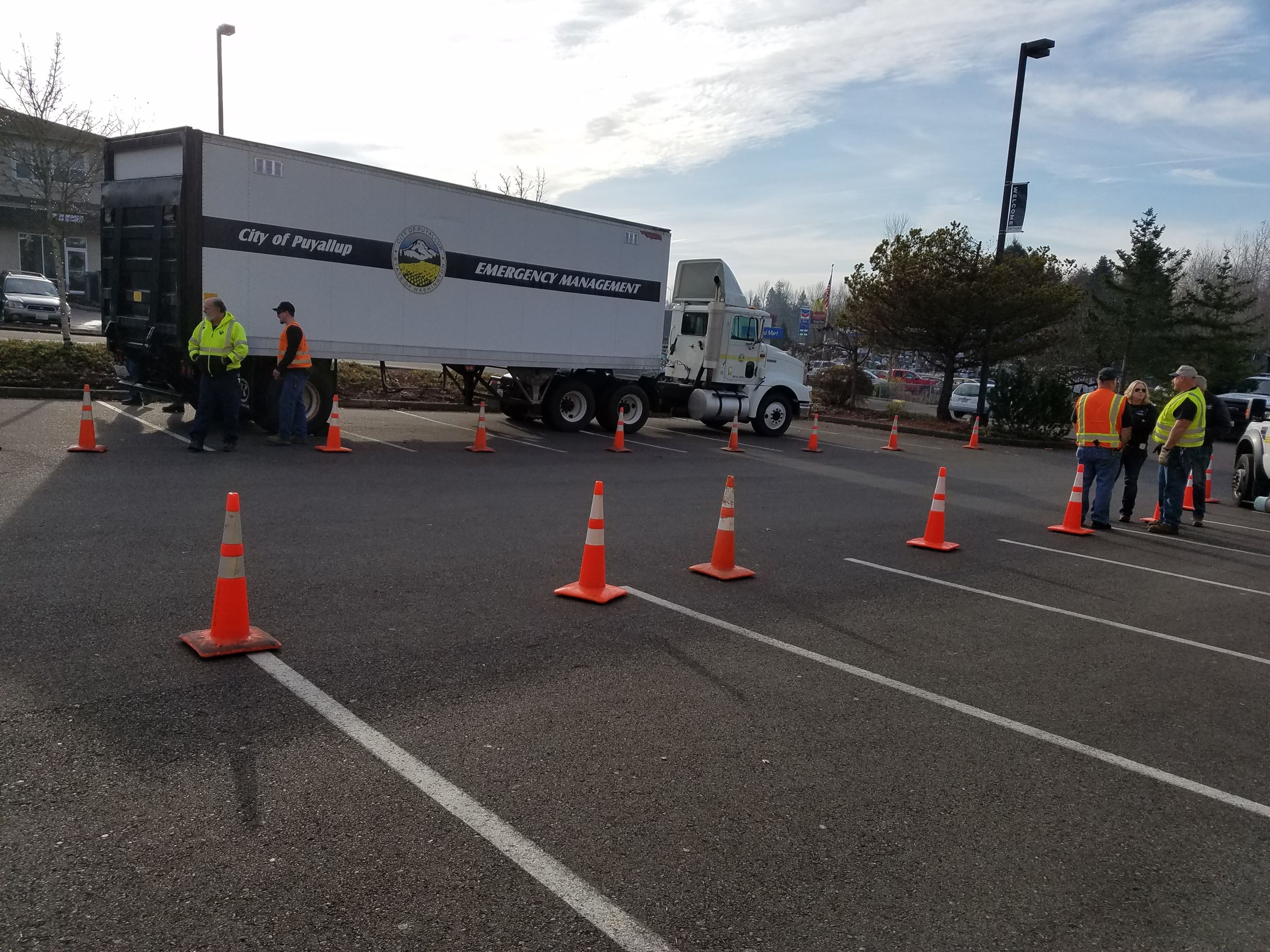 Emergency Management Semi Shelter Drill 12-14-17