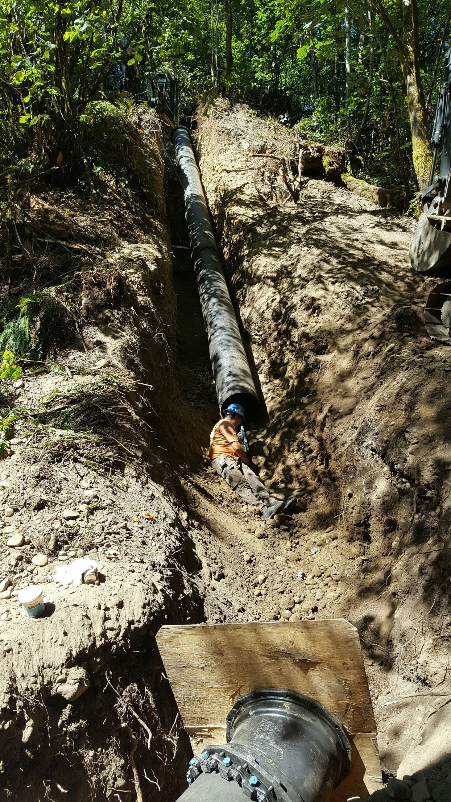 Salmon Springs main replacement