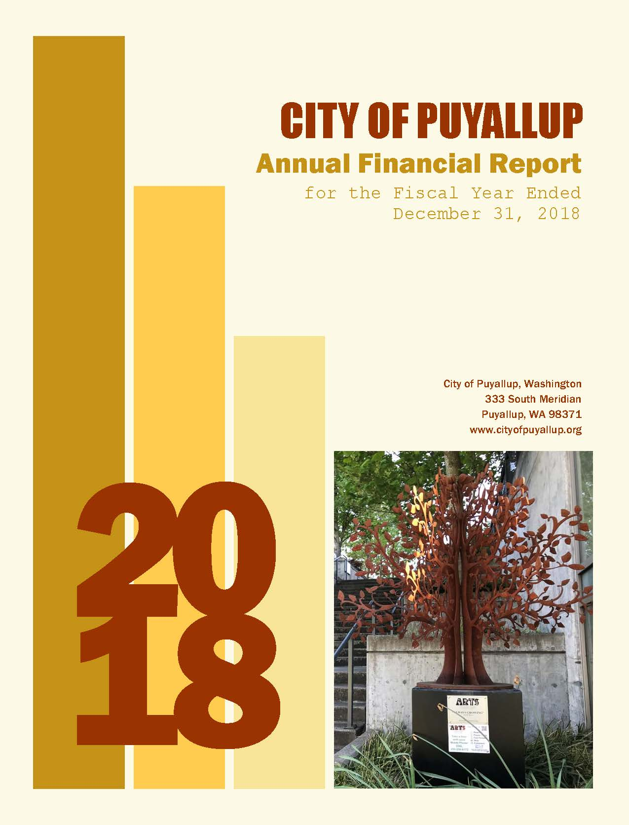 2018 Annual Financial Report Cover