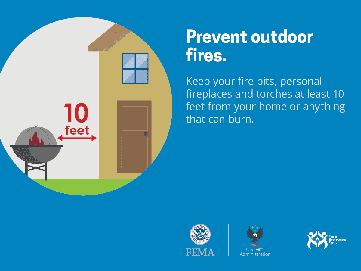 Keep fire pits away from home