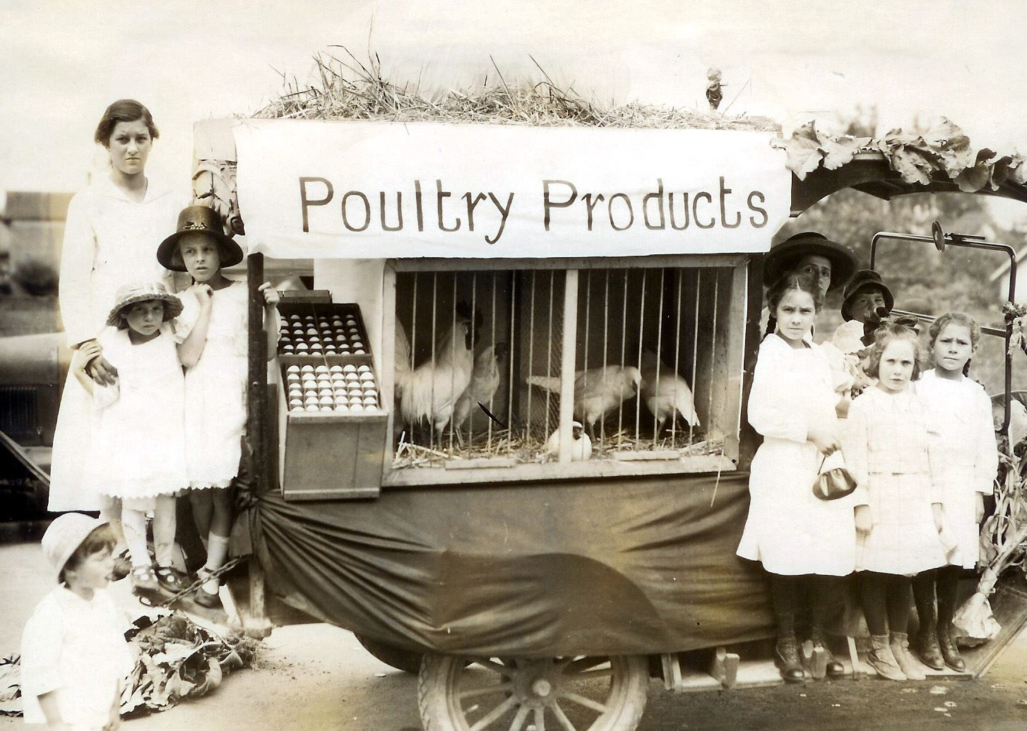 Historic Photo of Poultry Products Stand