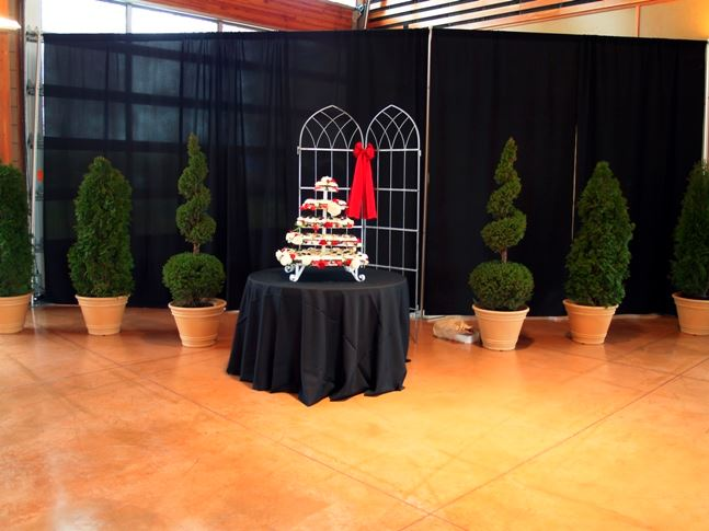 A pretty cupcake stand inside the Pavilion