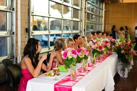 Bridesmaids At Table