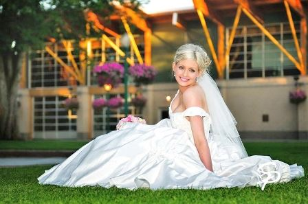 Bride Smiles On Grass