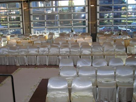 White Silk Covered Chairs