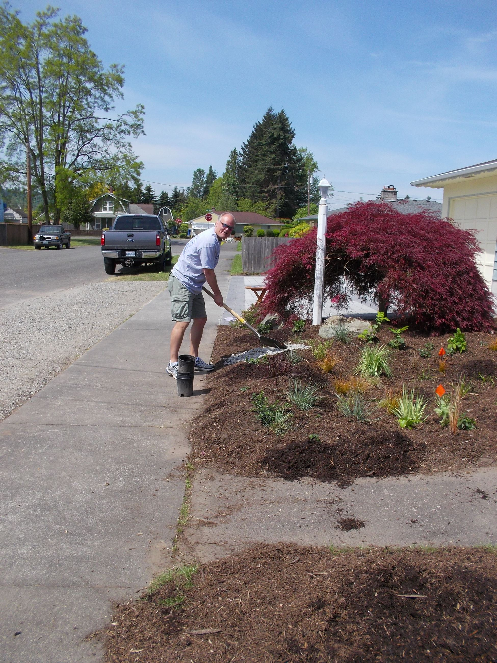 Working on the Rain Garden